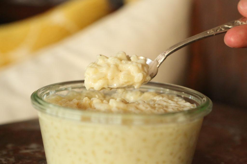 texture riz au lait crémeuse