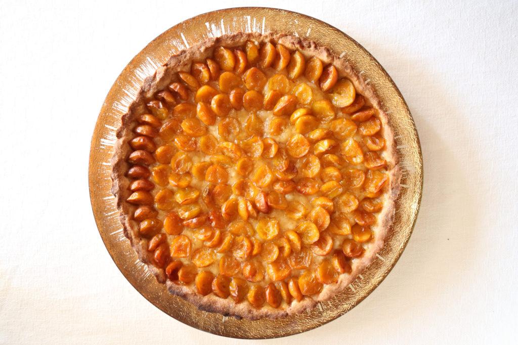tarte aux mirabelles après cuisson