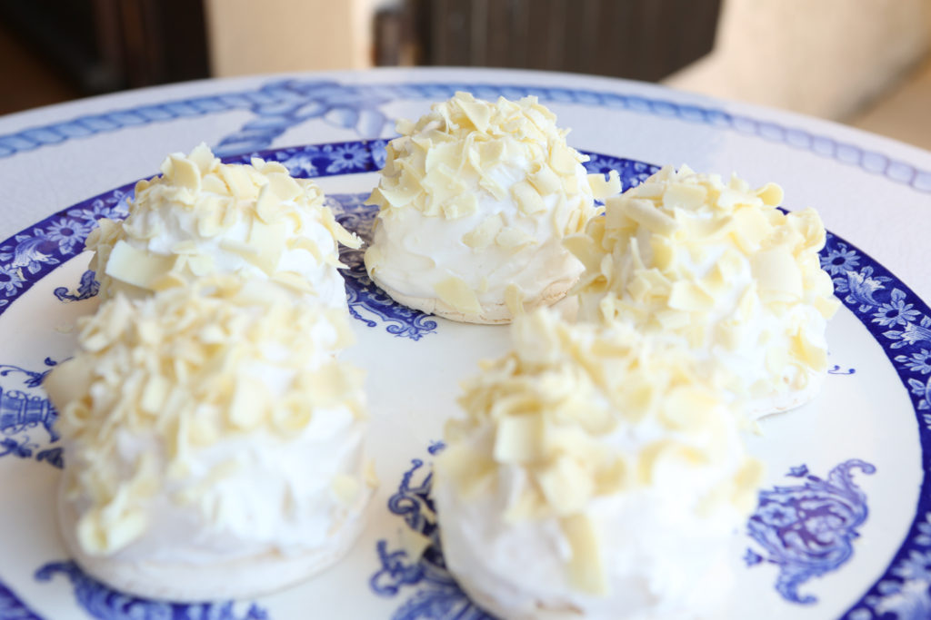 meringue au chocolat blanc