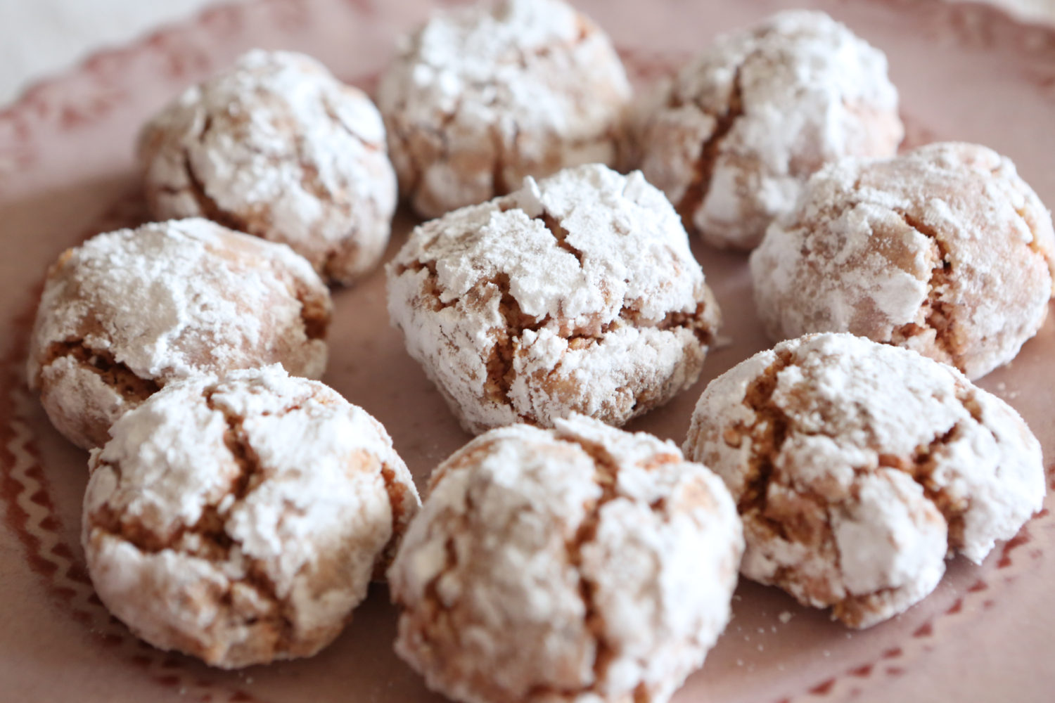 crinkles aux biscuits roses