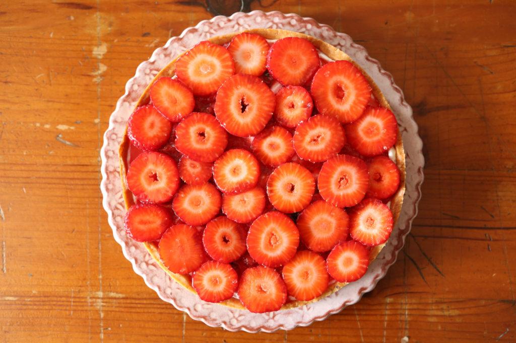 recette de tarte avec des fraises