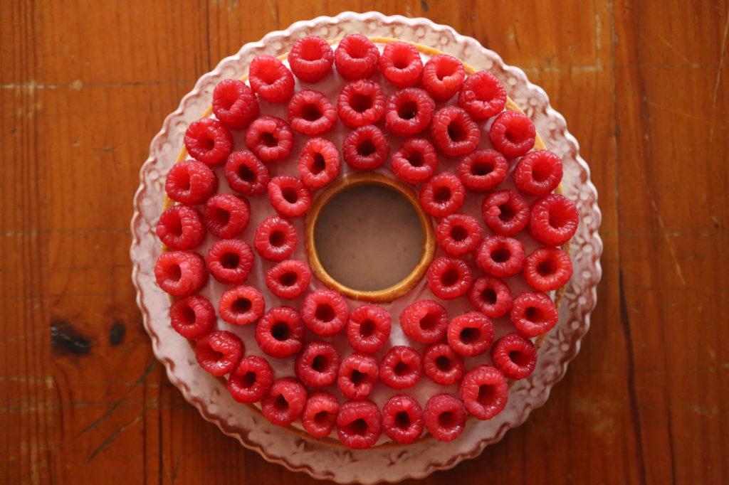 tarte aux framboises façon cyril lignac
