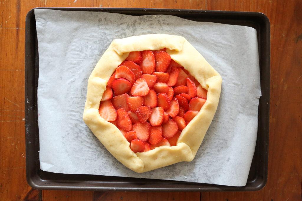 tarte rustique avant cuisson