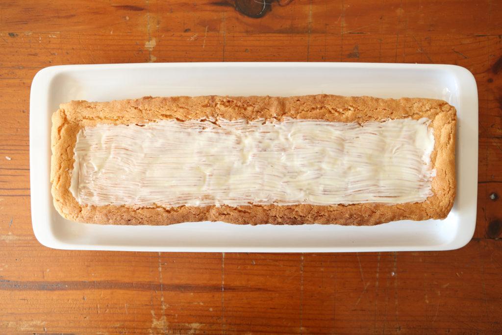 chablonner un biscuit avec du chocolat blanc